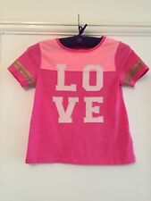 GAP Little Girls T-shirt With LOVE Applique. 6/7 Yrs. Immaculate.