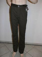 Relakz Herren Jeans Stoffhose W34 L32,Braun Nadelstreifen, Neu mit Etikett