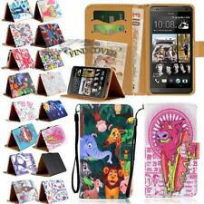 For HTC One Smartphones -Flip Leather Wallet Card Stand Cover Phone Case + Strap