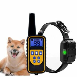 Dog Training Shock Collar Waterproof Rechargeable Trainer LCD Remote Control Pet