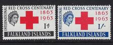FALKLAND ISLANDS: 1963 Red Cross set   SG212-3 MNH
