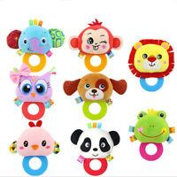 Cartoon Animal Baby Soft Plush Kids Animals Hand Bells Rattles Stuffed Toy