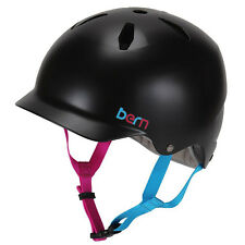 Bern Bandita Satin Black, Mädchen Fahrradhelm, Kinder Jugend Helm 51,5 - 54,5cm