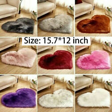 12colors Heart Shape Fluffy Rugs Anti Skid Shaggy Rug Dining Room Bedroom Carpet