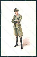 Militari Propaganda WWI Uniforme Esercito GMD cartolina XF0524