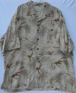 Joseph & Feiss men's short sleeve 100% silk Hawaiian/Aloha shirt size XXL