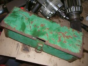 VINTAGE OLIVER  1650  GAS TRACTOR - TOOL BOX & COVER - AS - IS
