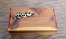 "VTG 1960's-1970's J.B. Deere Cedarcraft U.S.A. ""Mother"" Cedar Wood Trinket Box"