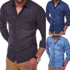 JACK & JONES Herren Jeanshemd Denim-Shirt Jeans-Hemd Blau/Grau/Hellblau NEU