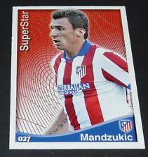 MANDZUKIC ATLETICO MADRID FOOTBALL CARD SUPERSTAR LIGA 2014-2015 MDCROMO PANINI