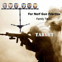 6 Bullet Targets Self Resetting Spinning Air Gun Rifle Shooting Plastic Set