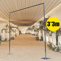 3*3M Heavy Duty Pipe and Drape Kit Photography Backdrop Stand for Event Party