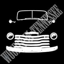 1947-1953 Chevy 3100 AD Advance Design Truck Front Profile India Ink Style decal