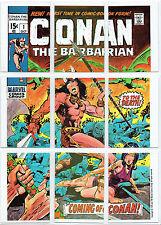 MARVEL SUPER HEROES 1976 SET OF 9 CHECKLIST CARDS