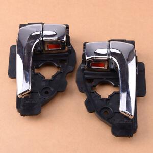 Pair Car Left & Right Inner Chrome Door Handle fit for Hyundai Tucson ix35 se