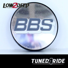 BBS Cerchi originali COPERCHIO emblemi center caps badge Nero//Argento 76mm tipo F