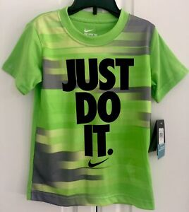NWT~NIKE Dri-Fit Little Kid's Action Green Short Sleeve Tee Shirt~~Size S (5)