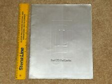1975-76 FORD LTD & LANDAU COUPE Large Format Sales Brochure (Australian Market)