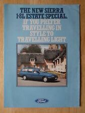 FORD Sierra 1.8L Estate Special 1986 UK Mkt sales brochure