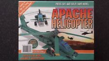Boeing Attack Army Aircraft APACHE HELICOPTER CARD MODEL Boys Mens Novelty Gift