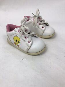WARNER BROS CO Looney Tunes Mmmmm 1996 RARE Tweety Bird Toddlr Sz 4 Sneakers