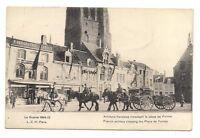 guerre 1914-15 artillerie française traversant la place de furnes