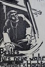 Franz de poder (1902-1976) corte de madera aprox. 1945: la reunidos de hachts
