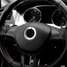 VW Golf 5 VW Golf 6 Lenkrad Ring SILBER ★ R Design ➤ Logo Emblem Airbag Blende