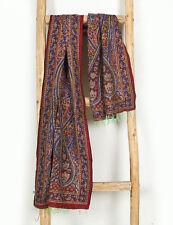 Kantha Stitched Neck Wraps Silk Women's Hijab Scarves Paisley Reversible Stole