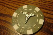 CADUCEUS-ASCLEPIUS Snake/Serpent Medical Emblem Poker Chip,Golf Ball Marker    S