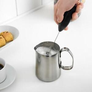 Milk Frother IN Black Handschäumer Milchschäumer Electric