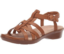 Clarks Ladies Sandals LOOMIS KATEY Tan Leather UK 6 / 39.5