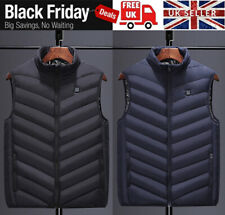 Electric Vest Heated Jacket USB Warm Up Heating Body Warmer Women Men Coat UK