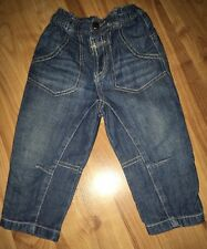 Boys Jeans Age 12-18months.George.Popper Fastening.height 81-86cms.stretchy.