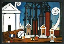 De Chirico : Termopili - Cartolina moderna realizzata nel 2009 per una mostra