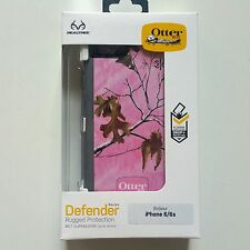 OtterBox Defender Case RealTree Pink Camo iPhone 6 6S w/ Clip Holster-New in Box