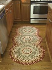 """Mill Village Braided Country Rug Runner by Park Designs - 30"""" x 72"""" Circles"""