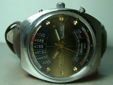 USED VINTAGE ORIENT AUTOMATIC DAY DATE MONTH WEEK YEAR WRIST WATCH P249 ANTIQUE
