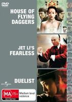 House Of Flying Daggers/Fearless/Duelist (DVD,3-Disc Set) 3 Movie Pack Drama