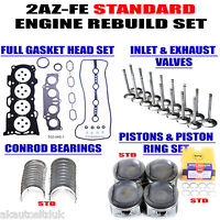 FITS TOYOTA PREVIA HEAD GASKET SET STANDARD PISTONS VALVES CONROD ROD BEARINGS