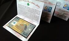 >> REPLACEMENT << FDC 50000 LL stamp 2014 UNC Polymer Commemorative Bill Lebanon