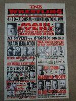 TNA Impact Wrestling Signed Event Poster