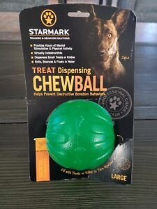 StarMark —Treat Dispensing Chew Ball Extremely Durable Soft in Dog Mouth Large