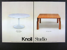 1989 Knoll Eero Saarinen 1956 & Ettore Sottsass Shift Table vintage print Ad