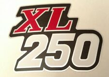 Honda XL250 XL 250 Honda Muffler Guard Side Cover Sticker Label Decal - RED