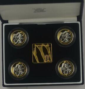2002 XVII Commonwealth Games £2 Two Pound Silver 4 Coin Set box/coa/outer