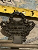 ANTIQUE IMPERIAL TROUSER HANGER WITH CAST IRON BACK PLATe