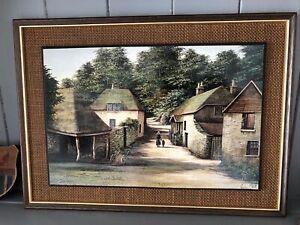 Vintage Kevin Platt Framed Print - Cockington
