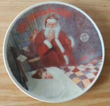 Norman Rockwell Knowles Decorative Plate-Deer Santy Claus 1986