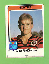 MISCUT 1980 NORTH SYDNEY BEARS  SCANLENS RUGBY LEAGUE  CARD #21 DON McKINNON